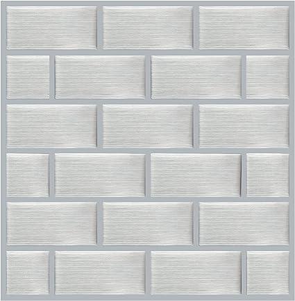 Besttile 10 Sheets Peel And Stick Tile For Kitchen Backsplash 8 6x8 6 Subway Silver Decorative Accessories Decorative Tiles