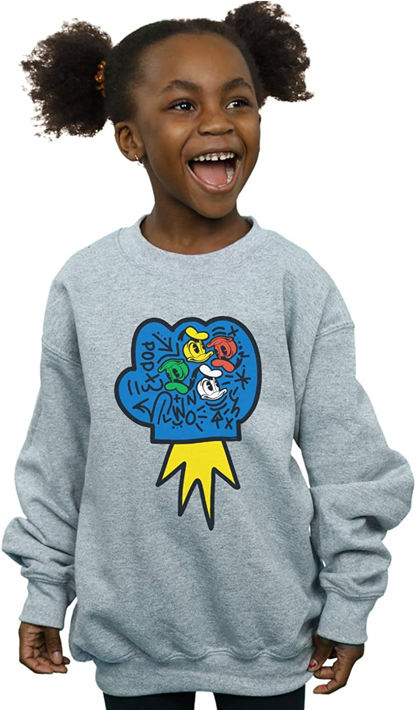 Disney Girls Donald Duck Pop Fist Sweatshirt