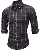 LeNG Slim NEW Classic Large Plaid Shirts Mens Dress Shirts Long sleeve Slim Fit Casual Man Chemise homme Cool
