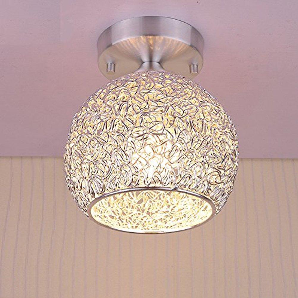 Goeco Mini Modern Chandeliers Creative Aluminum Ceiling Light for Girls Room,Bedroom,Hallway and Closet (Height 7.87'')