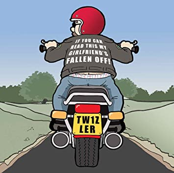 Twizler Funny Card With Motorbike And Lost Girlfriend Blank Happy Birthday