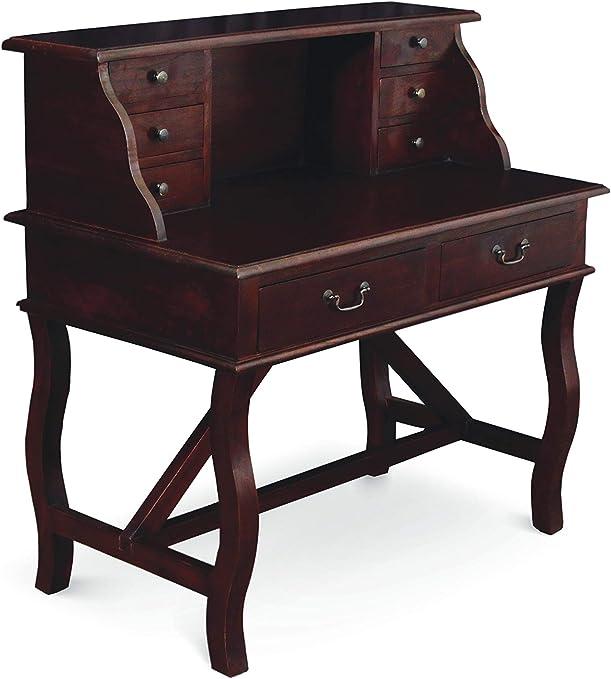 Mesa de escritorio Davenport de madera maciza de teca con diseño ...