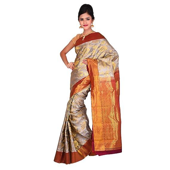 d404531cc3ac2e Vallalar Silks Silk Saree (1306396 Silver