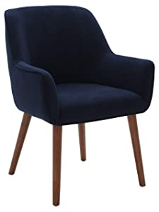 """Rivet Contemporary Dining Chair, 32""""H, Ink Blue"""
