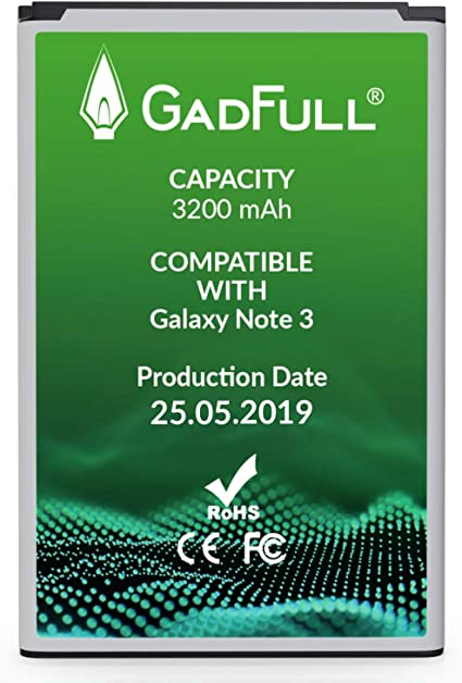 Amazon.com: gadfull batería para Samsung Galaxy Note 3 ...