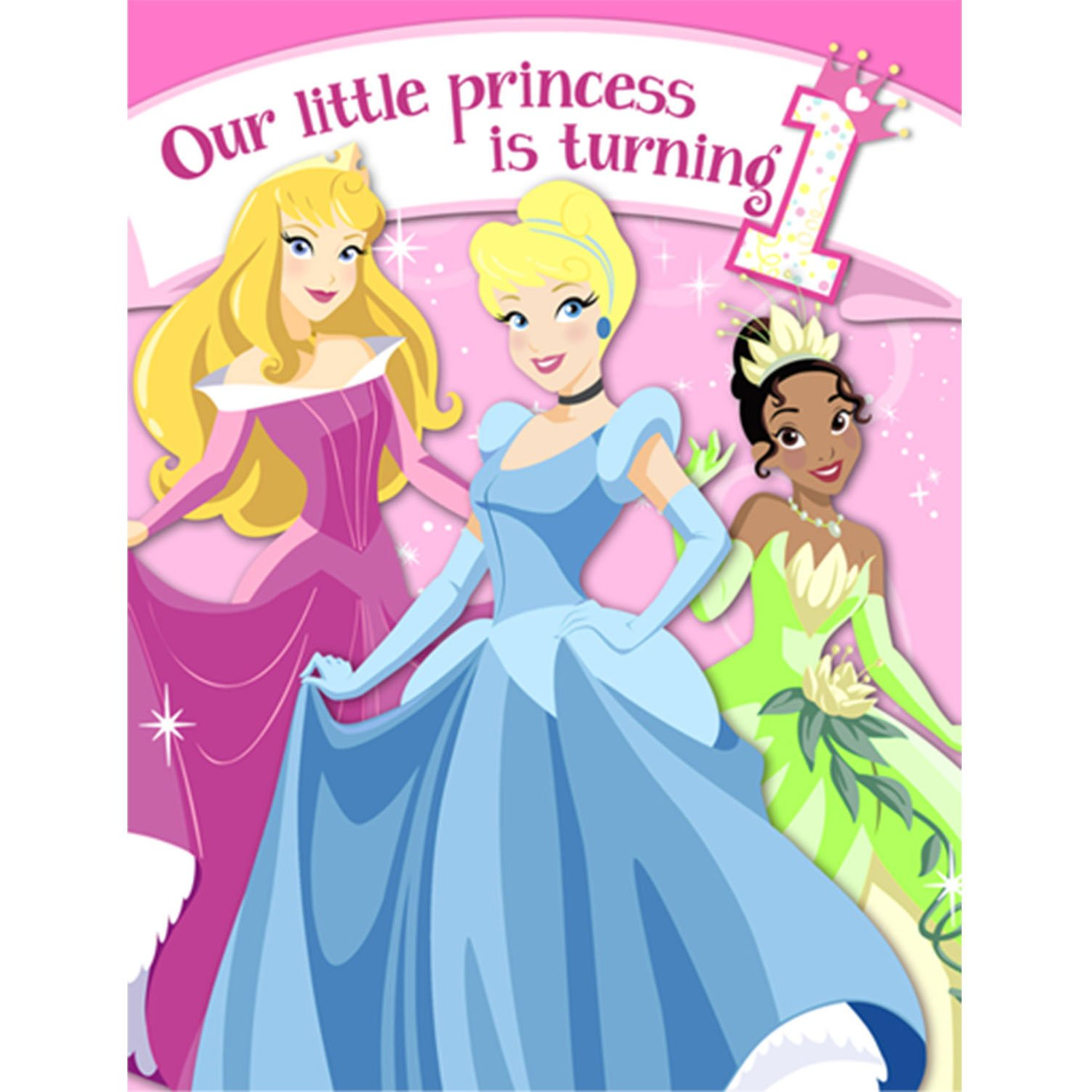 Amazon Disney Princess 1st Birthday Invitations w Envelopes