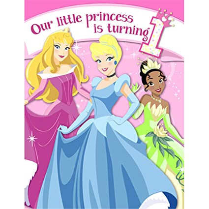amazon com disney princess 1st birthday invitations w envelopes rh amazon com Disney Princess Belle Happy Birthday Disney Princess