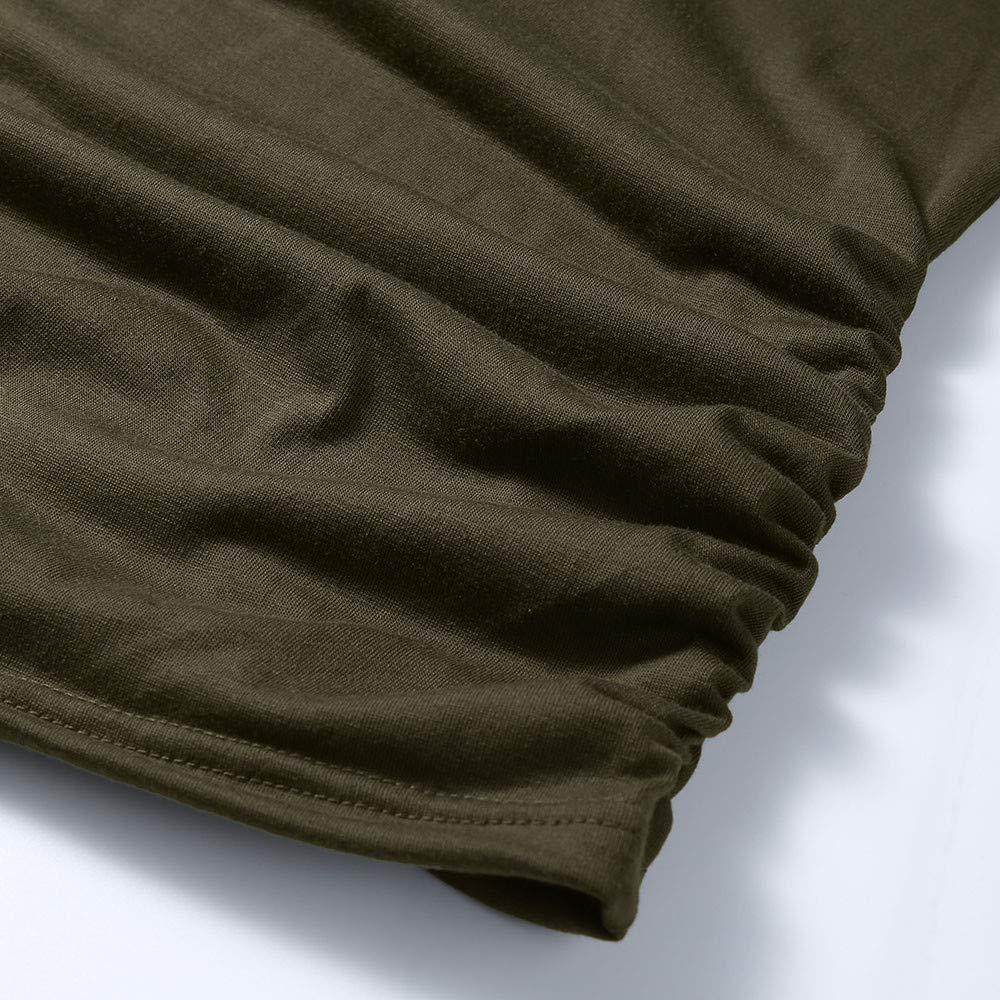 Lonshell Mutterschafts Basic Langarmshirt mit Knopf und Ger/üscht Schwangerschaft Umstandsmode T-Shirt Bluse Herbst Weich Rundkragen Bauchfrei Oberteile