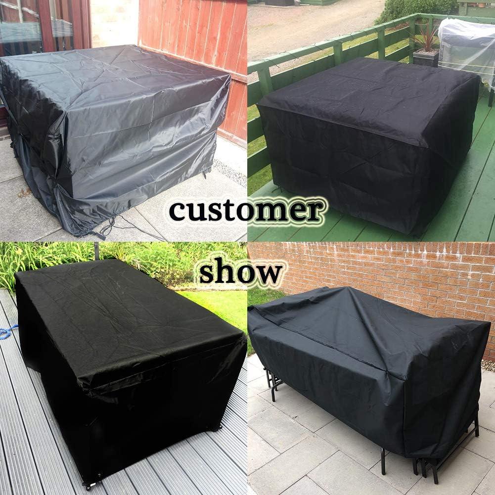 Osarke Housse pour meubles de jardin 120x120x74 120 X 120 X 74cm