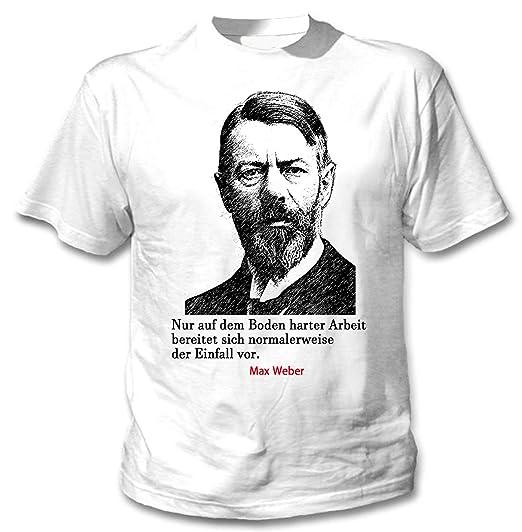 Teesquare1st Max Weber Arbeit Zitate Camiseta Blanca Para