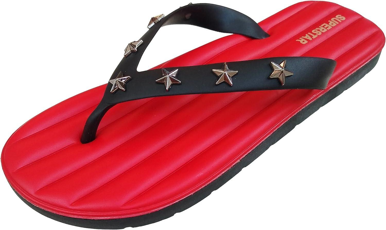LONGWEIZ Mens Flip Flops Sandals Superstar