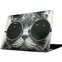 MacBook Air 11 Case, FUNUT AIR 11-inch Cartoon Hard Shell Case Cover for MacBook Air 11 inch (Models: A1370 and A1465) - Chic Cat in Sunglasses