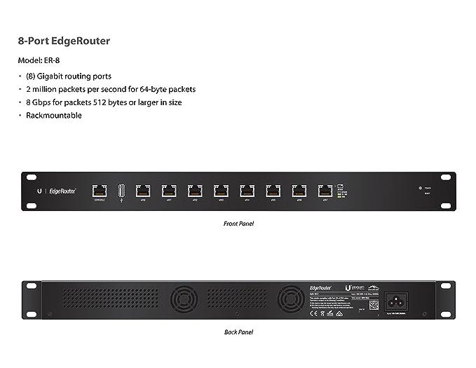 Ubiquiti Networks ER-8 Edge Router 8 Port Router: Amazon co uk