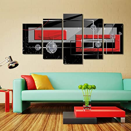 Canvas Deco Pictures Abstract Design WALL PICTURES XXL Art Print Red Blue 5 Motif