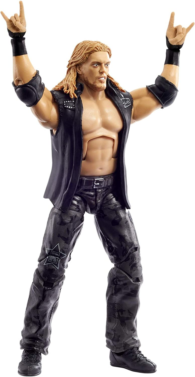 15.24-cm Posable Collectible Gift for WWE Fans Ages 8 Years Old /& Up Bat /& Paul Ellering /& Rocco Build-A-Figure Pieces WWE Edge WrestleMania Action Figure with Entrance Vest 6-in
