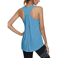 Loovoo Workout Running Tank Tops for Women Fitness Gym Yoga Shirts Exercise Sport Tops