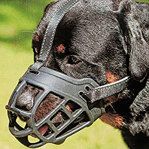 Dog Muzzle,Soft Basket Silicone Muzzles for Dog, Best to Prevent Biting, Chewing and Barking, Allows Drinking and Panting, Used with Collar 9