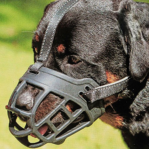 Dog Muzzle,Soft Basket Silicone Muzzles for Dog, Best to Prevent Biting, Chewing and Barking, Allows Drinking and Panting, Used with Collar (1 (Snout 7-8
