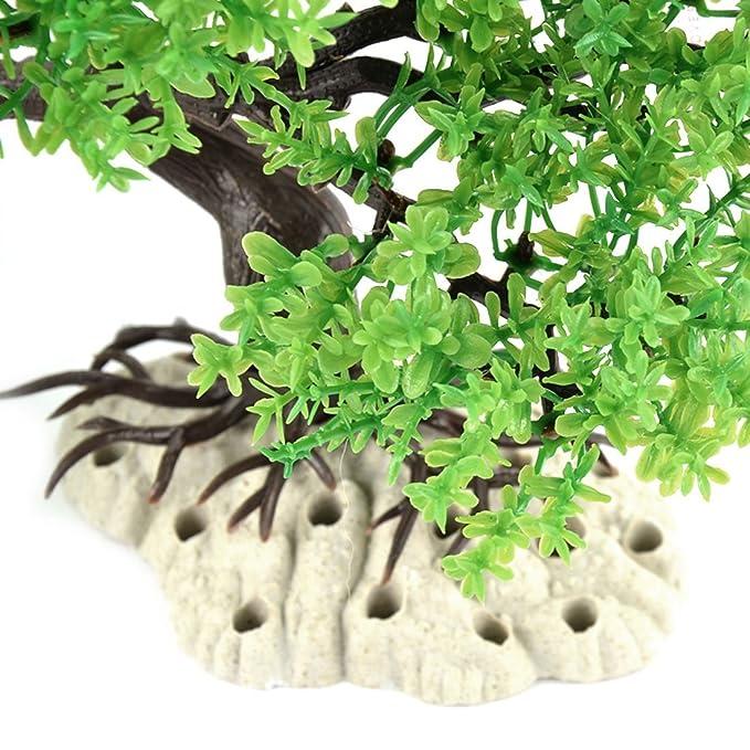 Amazon.com : eDealMax Tanque ornamento Peces de plástico desmontable Eimulation Pino de la planta acuática decoración Verde : Pet Supplies