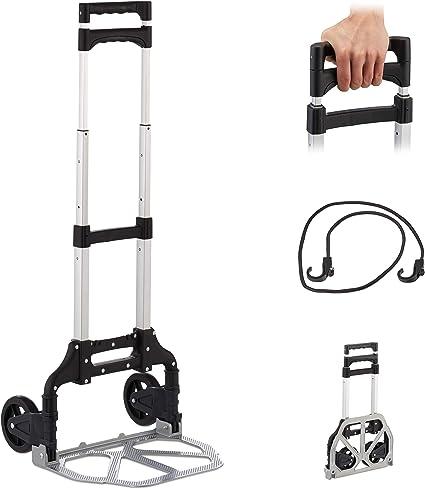 Profi Sackkarre klappbar PU Räder für Treppen Silber Transportkarre bis 100 kg