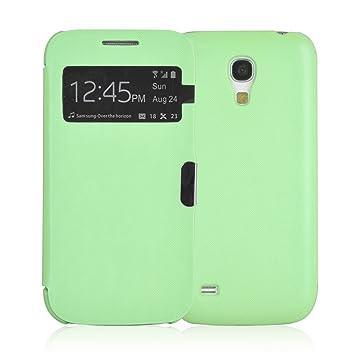 JAMMYLIZARD | Funda Smart View Para Samsung Galaxy S4 MINI Flip Cover Case Con Cierre Magnético, VERDE