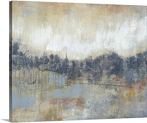 Cool Grey Horizon I Canvas Wall Art Print