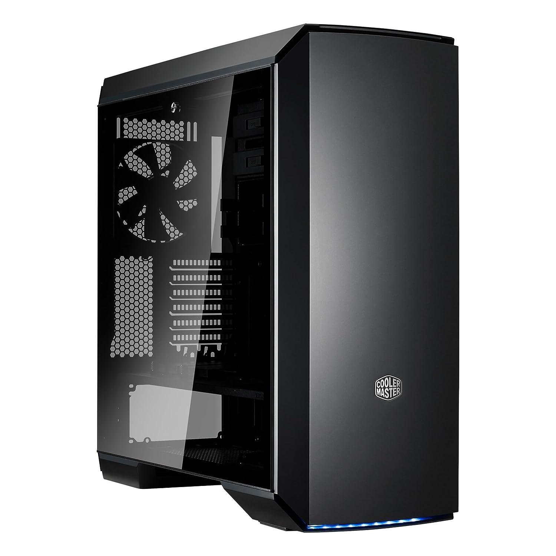 Cooler Master MasterCase MC500Mt Case per PC 'E-ATX, ATX, mATX, mini-ITX, USB 3.1 Type C, 2x Pannello Laterale in Vetro Temperato' MCM-M500T-RH5N-S00, Nero, Rosso