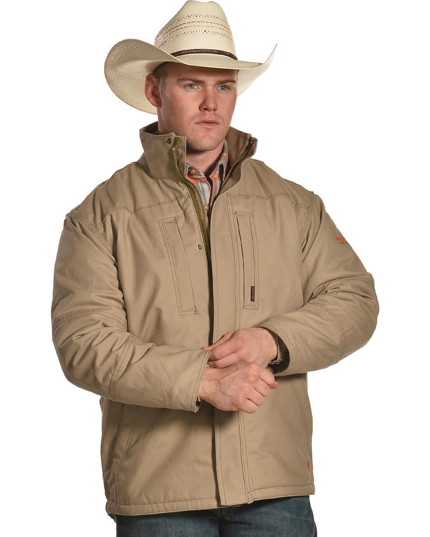 Ariat Men's FR Lined Workhorse Jacket Tall Beige/Khaki XX-Large Tall