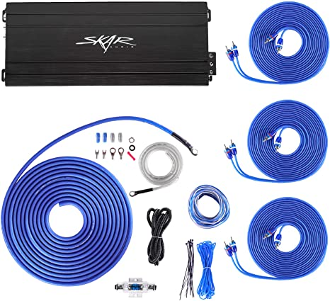 BOSS Audio 1200W calibre 8 Completo Coche AMP Amplificador Kit de cableado de Subwoofer Cable