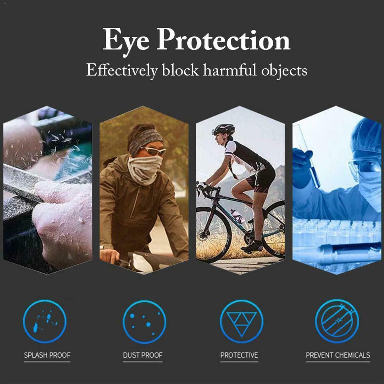 Vococal Gafas protectoras antisalpicaduras transparentes contra salpicaduras de polvo unisex Gafas de seguridad para hospital Metro Autob/ús Supermercado Montar Laboratorio Estilo A