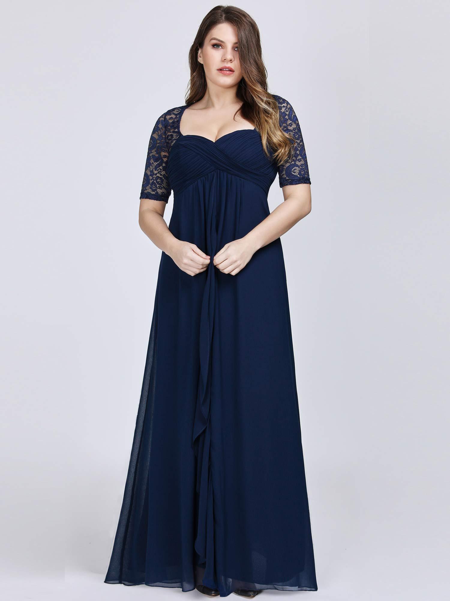 Blue Evening Dresses Plus Size Women