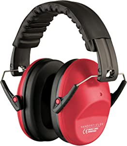 Vanderfields EF5005 Hearing Protection Earmuffs - Male and Female Adult Size - Color Red