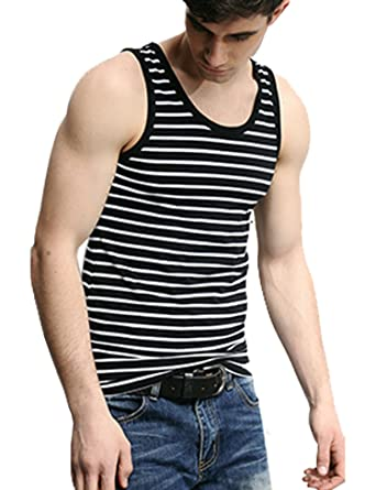 994fccfa768a6b Amazon.com  COOFANDY Men s Crew Neck Y-Back Tank Tops Sleeveless Workout  Muscle Undershirts  Clothing