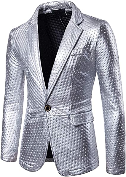 PPangUDing Chaqueta de traje para hombre, retro, manga larga ...