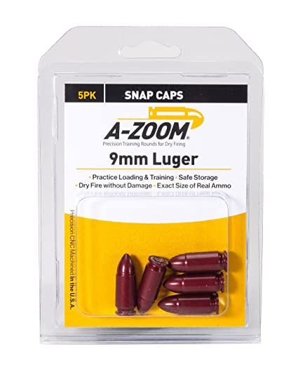 a zoom 15116 9mm luger precision snap cap 5 pack