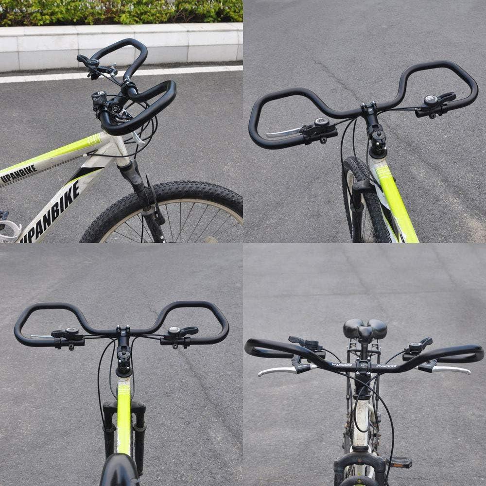 UPANBIKE Bicicleta Manillar de Mariposa con Esponja Grips para Senderismo Ciclismo Bicicleta Bicicleta de Carretera (φ25.4 mm 31,8 mm): Amazon.es: Deportes y aire libre