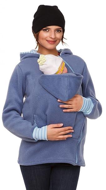 Para mujer sudadera capucha top portador de bebé forro polar. 032p: Amazon.es: Ropa y accesorios