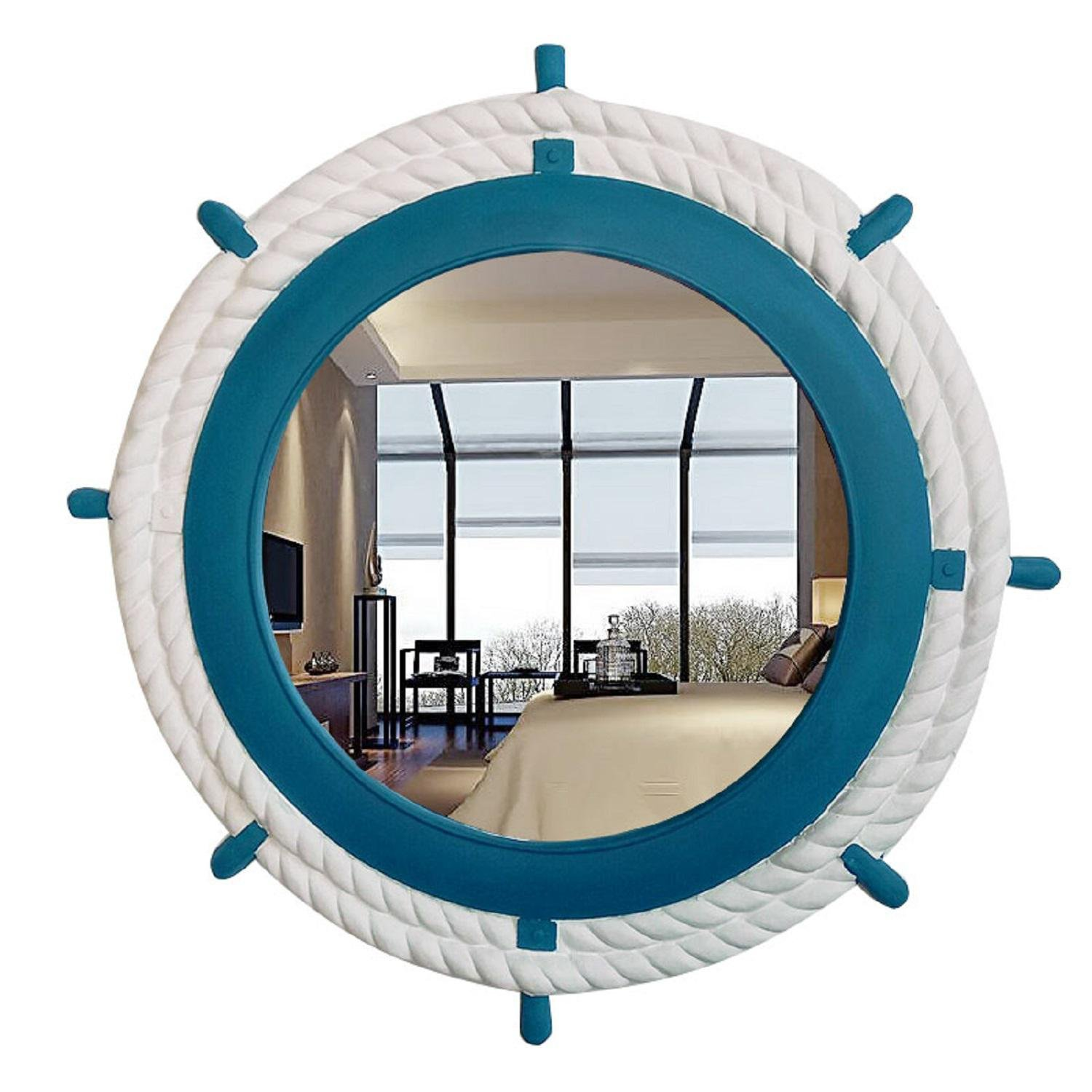 GAOJIAN European-style circular mirror decorative mirrors Wall-mounted rudder bathroom mirror Designer table mirror , d