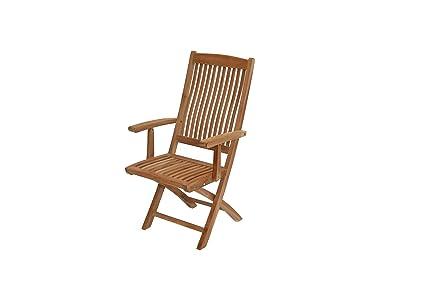 Gartenstuhl Holz Klappbar.Amazon De Ploß Klappstuhl Arlington Premium Teakholz