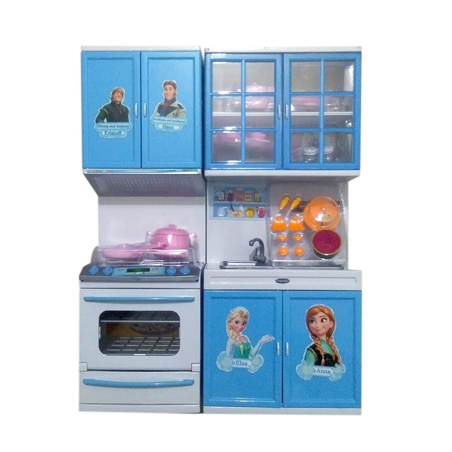 Buy tabu toys world beautiful frozen modern kitchen set for girls blue online at low prices in india amazon in