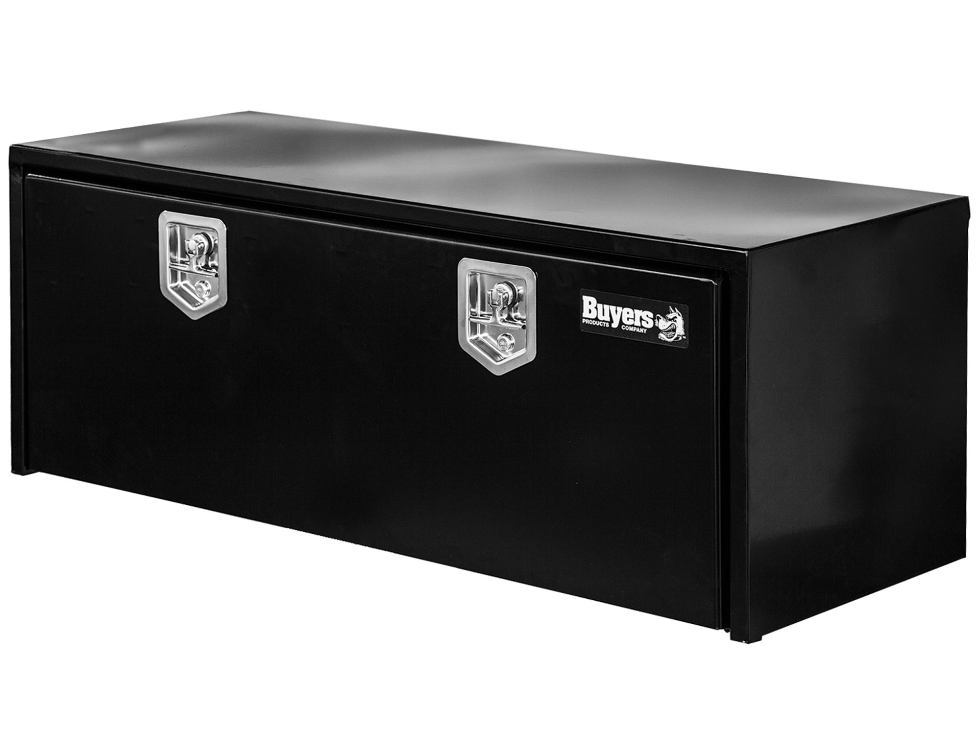 Buyers Products Black Steel Underbody Truck Box w/ T-Handle Latch (18x24x48 Inch)