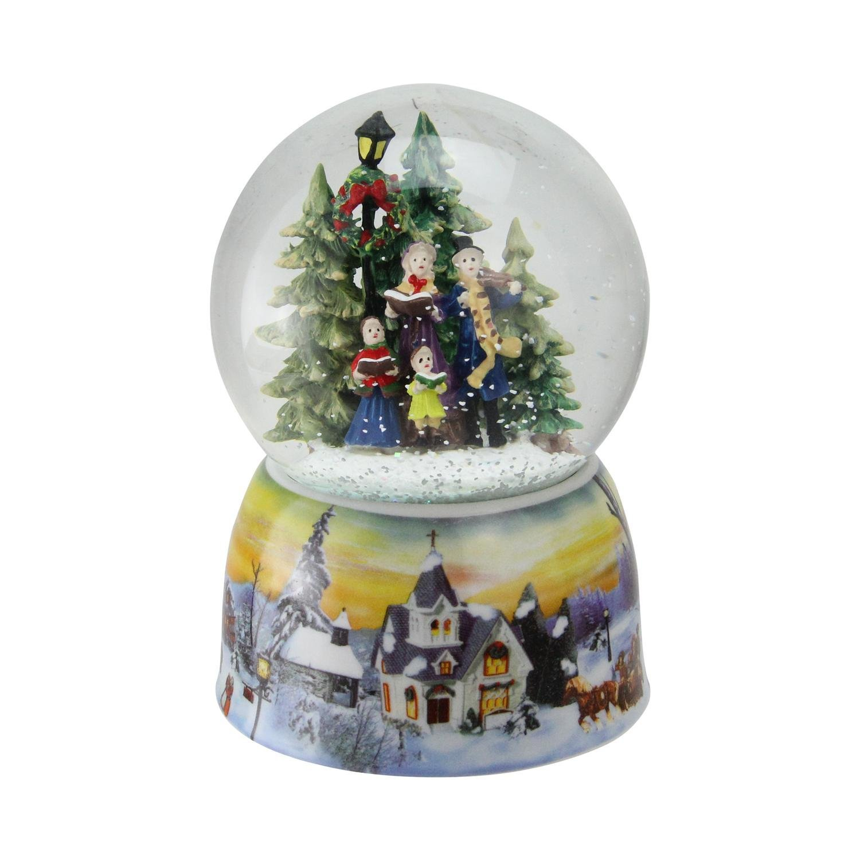 Northlight 6'' Christmas Carolers Winter Scene Musical Water Snow Globe