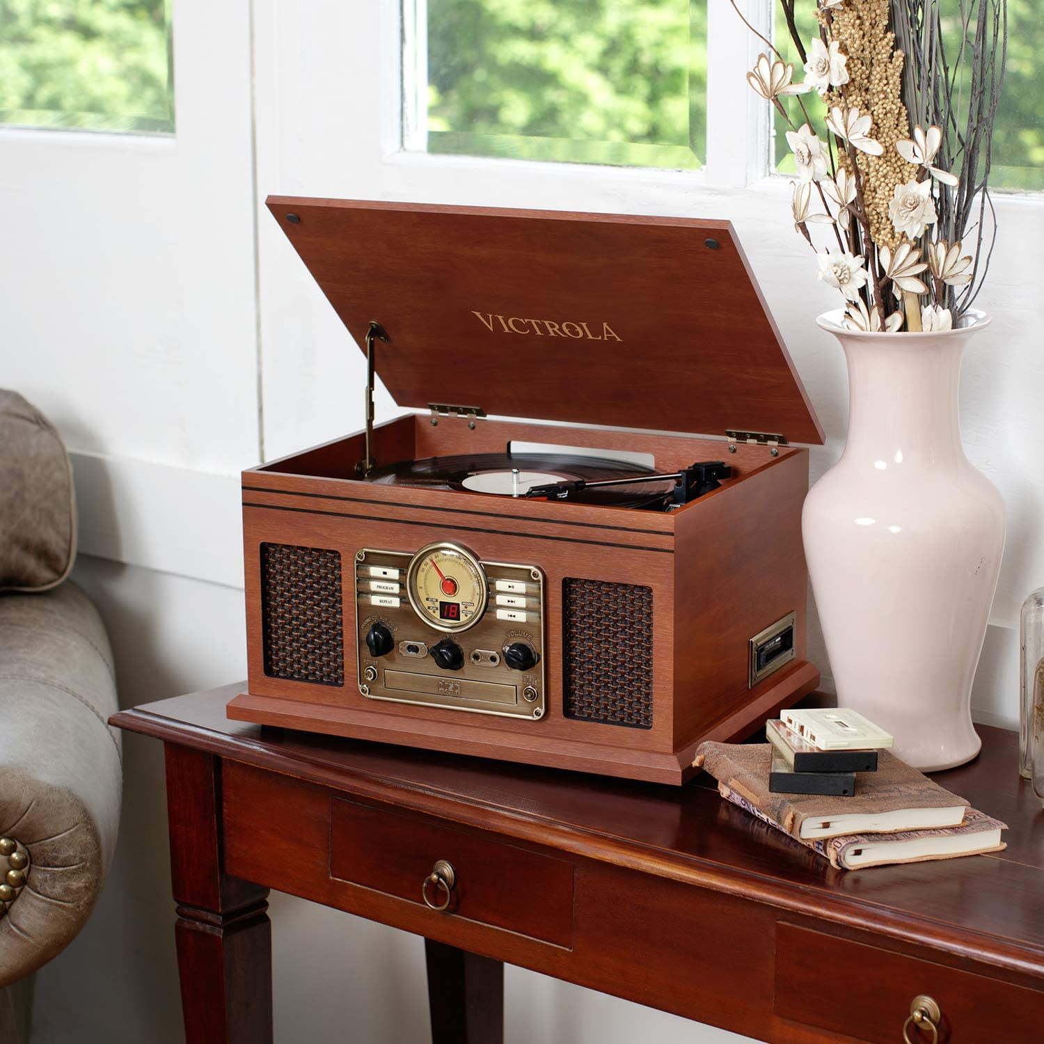 6-in-1 Bluetooth Turntable
