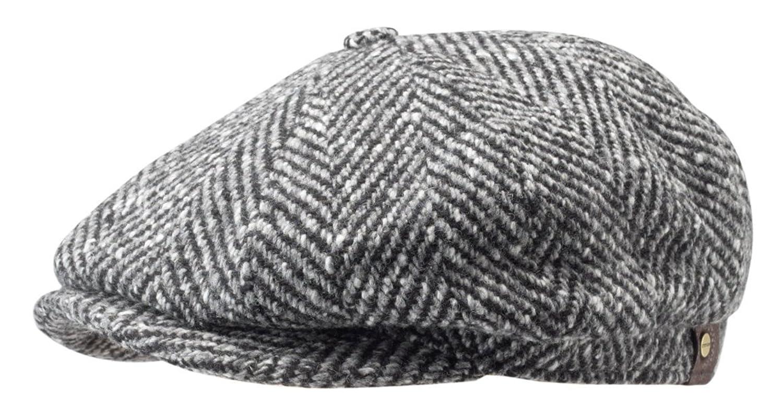Stetson Herren Hatteras Fischgrat Check Cap Grau