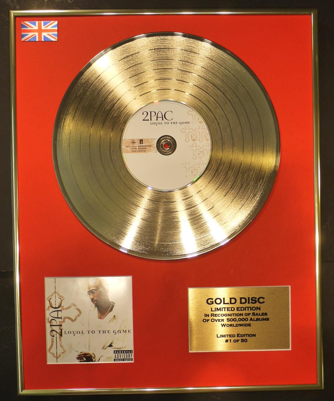 2Pac Goldene Schallplatte Record Limitierte Edition/Loyal To The ...