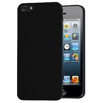ivoler Funda Carcasa Gel Negro para iPhone SE/iPhone 5S / iPhone 5, Ultra Fina 0,33mm, Silicona TPU de Alta Resistencia y Flexibilidad