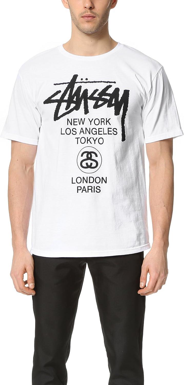 Stussy - Camiseta - Logotipo - para Hombre Blanco: Amazon.es: Ropa y accesorios