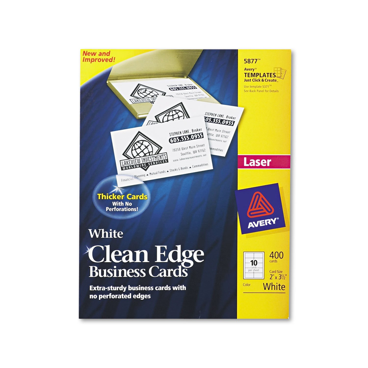Amazon Avery 5877 Business Cards Flaser Printer 400bx 3 1