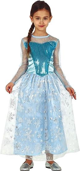 FIESTAS GUIRCA Disfraz de Elsa Snow Queen Frozen Disfraz de niña ...