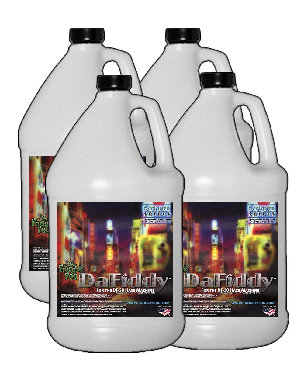 4 Gal - DaFiddy - Oil-Based and Oil-less Haze Juice Fluid for DF-50 Machine Fluid Type: Oil-Based Fluid by Froggys Fog